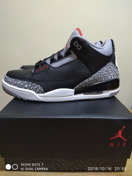 Tenis Air Jordan 3 Black Cement