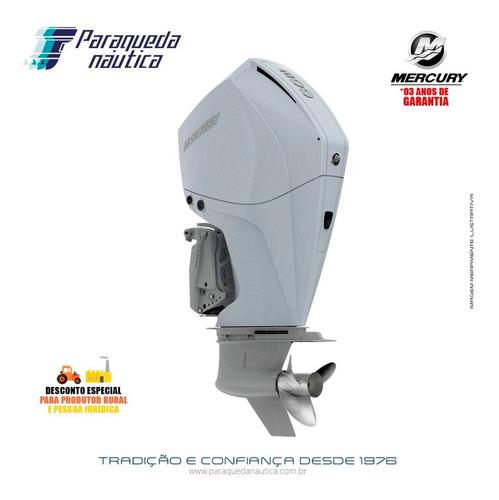Motor De Popa Mercury 4 Tempos 300hp Cxl V8 Dts Branco