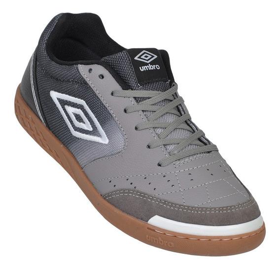 Tênis De Futsal Umbro Box Id - Cinza/preto - Original