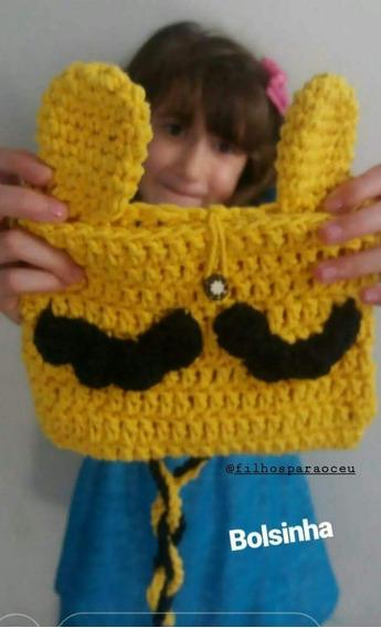Bolsa De Mão De Crochê Com Alça-infantil
