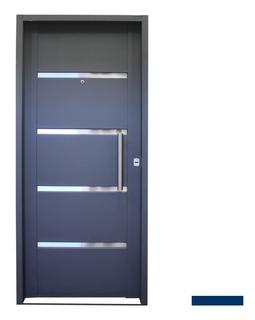 Puerta Frente Inyectada Reforzada Doble Chapa 0.90 X 200