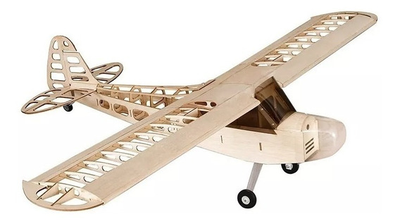 Aeromodelo Piper Cub J3 Kit Balsa Asa 1180mm Avião Escala