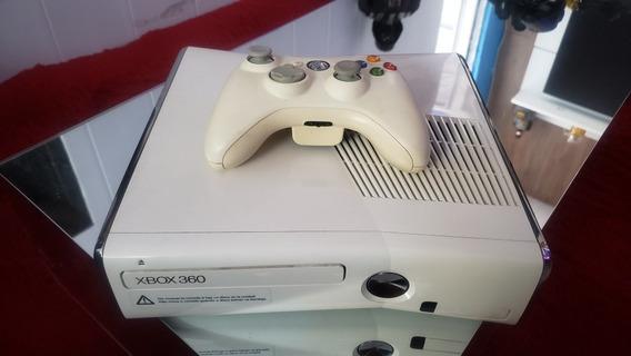 Xbox 360 Slim Modelo Especial Branco Lindo Desbloqueado Rgh