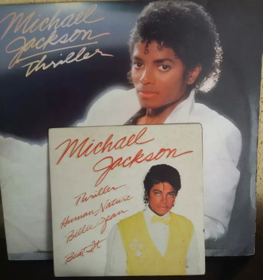Lp + Compacto Disco Vinil Raro Michael Jackson Thriller
