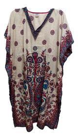 Vestido Indiano, Kaftan Indiano Longo Importado Veste Gg
