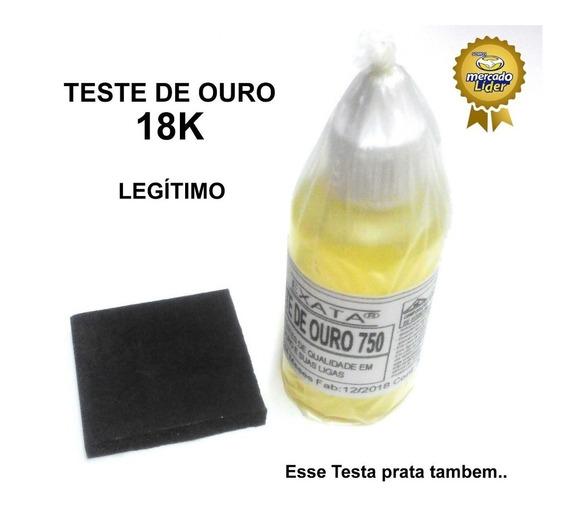 Teste Ouro Puro 750 - Pedra + Ácido 18k Com 30 Ml