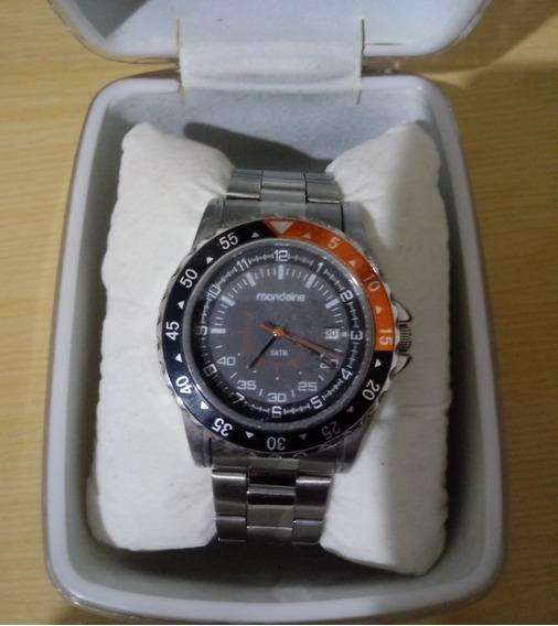 Relógio Mondaine Masculino Pulseira De Aço Original