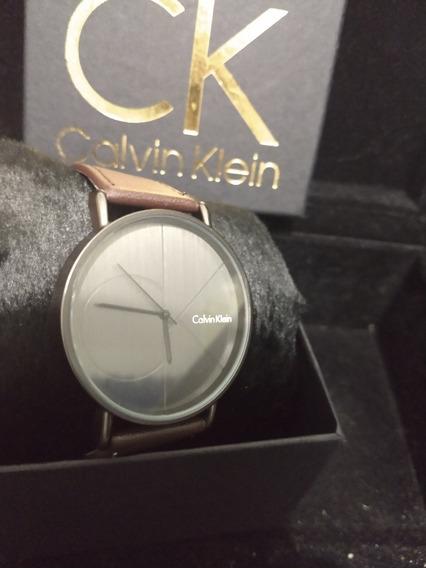 Relógio Ck Preto Com Marrom