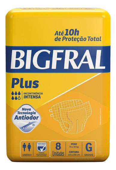 Fralda Geriátrica Bigfral Plus G - 8 Unidades