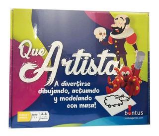 Que Artista! Juego De Mesa Bontus Dibujar Moldear Actuar +12