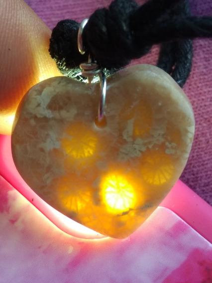 Colgante Corazón De Piedra Natural Traslùcido