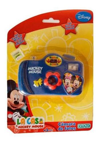 Camara De Fotos Mickey Azul-rojo 656 Disney