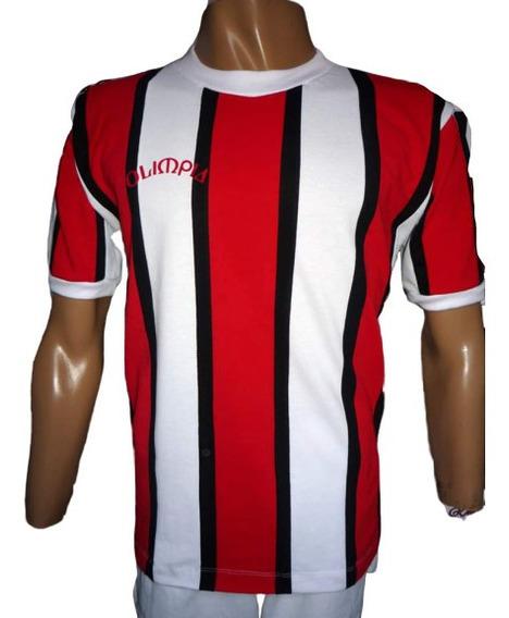 Camiseta River Alternativa Tricolor Retro 1980 Olimpia Pique
