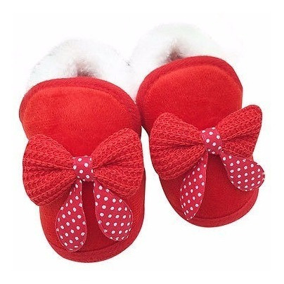 Sapato Bebe Com Pele Sintética Vermelho