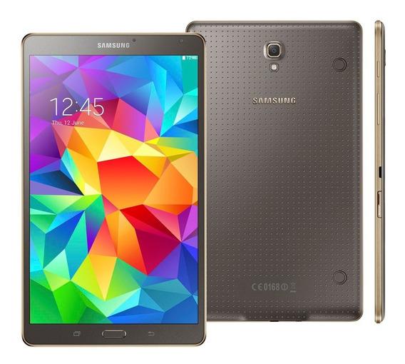 Tablet Samsung Galaxy Tab S Wi-fi Com Tela 8.4 Super Amoled, 16gb, Câmera 8mp, Gps, Android 4.4 E Processador Octa-core