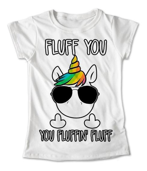 Blusa Unicornio Colores Playera Lentes Fluff You #156