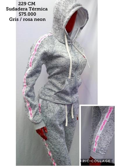 Sudadera Térmica Completa Para Mujer Diseño Exclusivo