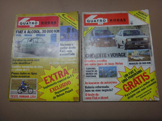 Revista 4 Rodas Chevette Voyage Fiat Set E Out/81 - 2 Unid