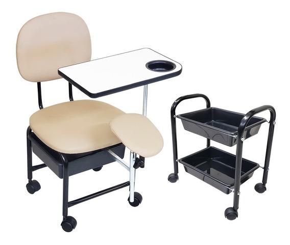 Cadeira Manicure Cirandinha Com Suporte E Cm2 Pérola Facto