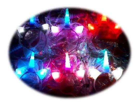 30 Diadema Unicornio Luz Led Little Pony Luminosas Mayoreo