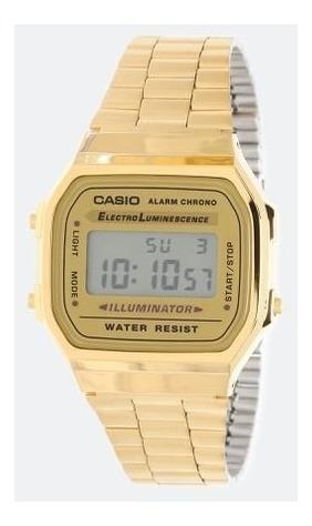 Relógio Casio Moda Vintage Dourado Ouro