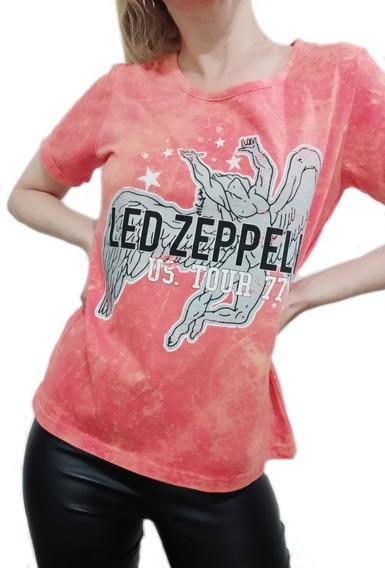 Remera Aldogon Batik Naranja - Led Zeppelin