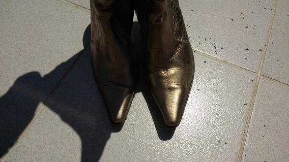 Botas Metalizadas De Mujer