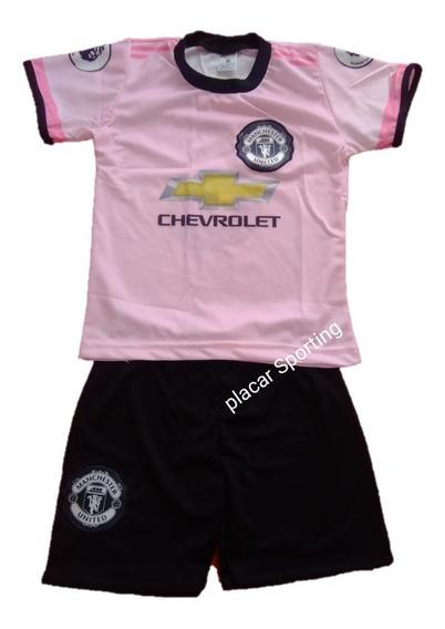 Conjunto Infantil Manchester United Uniforme