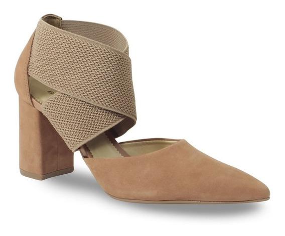 Sapato Scarpin Couro Bottero Feminino Elástico