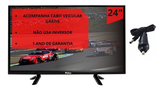 Tv 24 Pol Digital 12 Volts Caminhão Motorhome Onibus Trailer