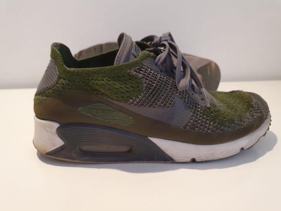 Zapatillas Nike Air Max 90 Ultra 2.0 Flyknit Verde Plomo