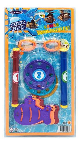 Set Discos-tubos-submar P/buceo Int 8928 Aqua Club Vulcanita