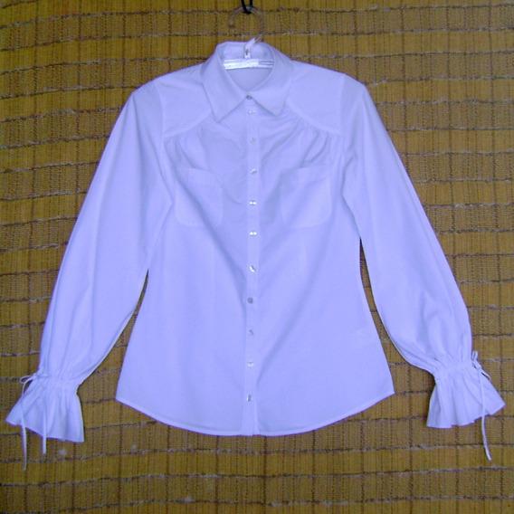 Camisa Feminina Branca Usada Tamanho 38 Anne Fontaine