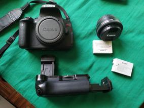 Canon Rebel T5i + Lente 24mm + 2 Baterias + Grip