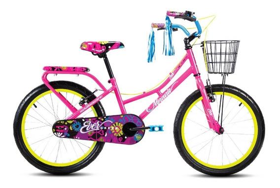 Bicicleta Mercurio Evergreen Rodada 20 Con Canastilla