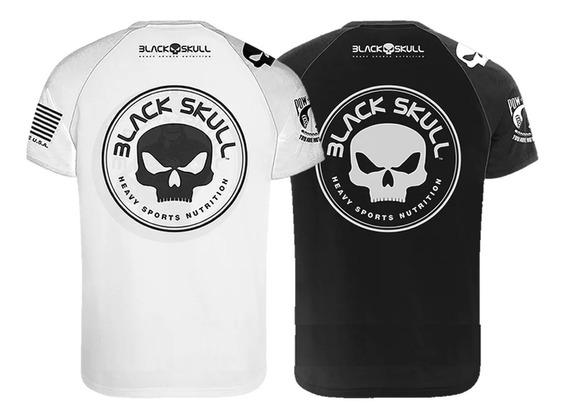 2 Camisetas Oficiais Dry Fit - Black Skull - Bope Ou Classic