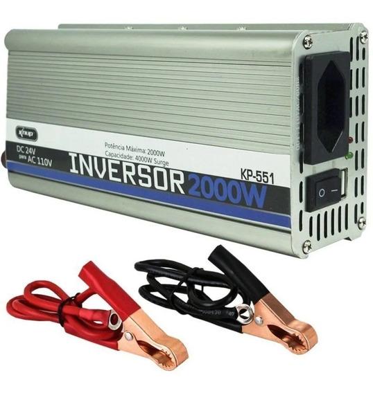 Inversor Transformador Conversor 2000w Veicular 24v 110v 551