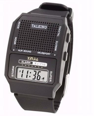 Kit 10 Relógios Fala Hora Para Deficiente Visual E Idoso T