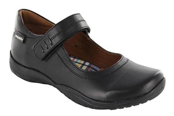 Zapato Escolar Para Niña Coqueta Georgina Negro T18-21