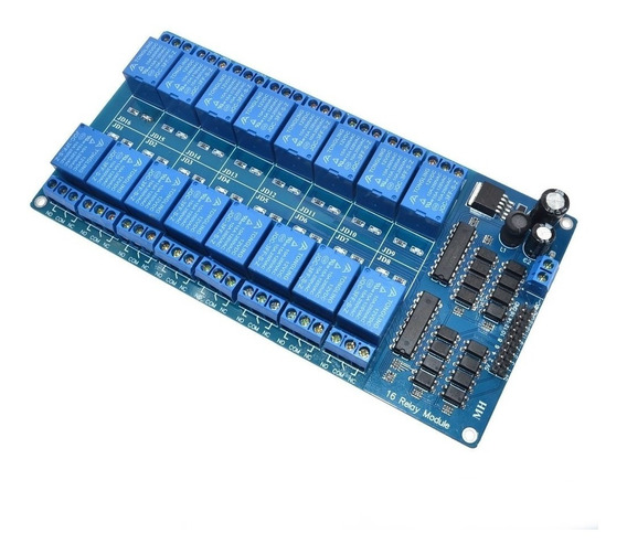 Módulo Relé 16 Canais 12v C/optoacoplador Para Arduino