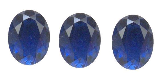 Safira Azul Oval 8x6 Mm Safira 3031bpb