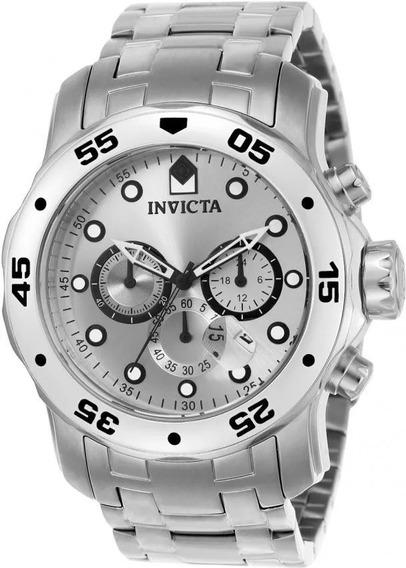 Relógio Invicta 0071 Pro Driver Original Masculino Prateado