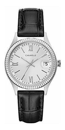 Caravelle - Reloj De Cuarzo Para Mujer, Acero Inoxidable, Co