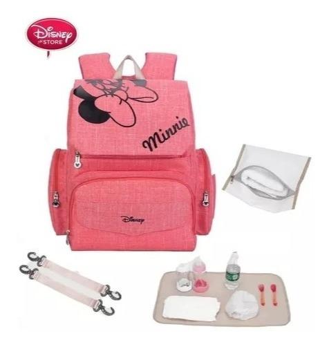 Bolsa Mochila Maternidade Disney Minnie Mickey + Brindes