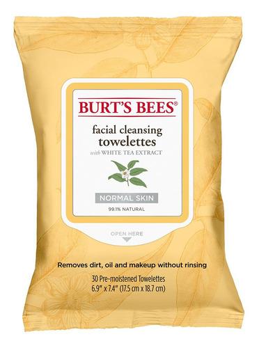 Toallitas Desmaquillantes Burts Bees Té Blanco 30un