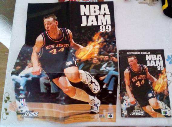Manual Original Americano - Nba Jam 99 - Nintendo 64 N64