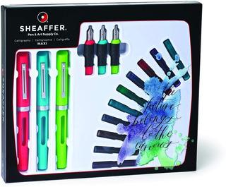 Sheaffer Viewpoint Caligrafía Maxi Kit Con 3 Plumas, 3 Punta