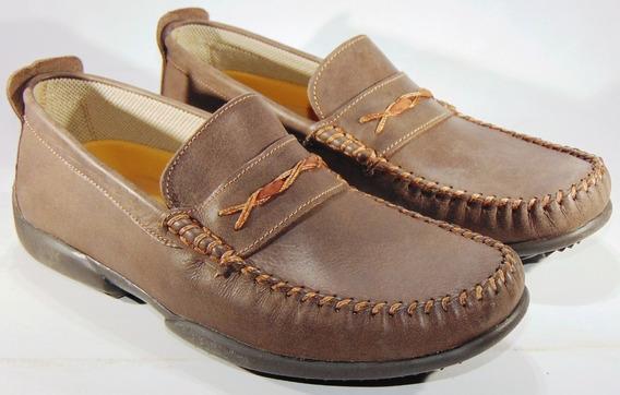 Zapatos Mocasines Hopper Cuero Cosidos Y Pegados Art 883