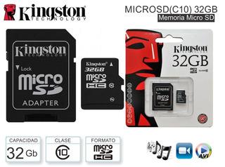 Memoria Micro Sd 32 Gb Kingston Clase 10