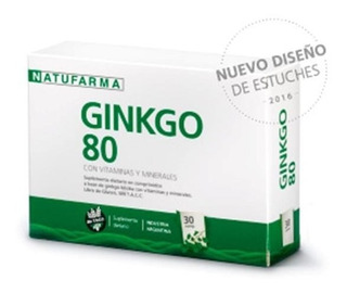Natufarma Ginkgo Biloba 80 Circulacion Memoria X 30 Comp
